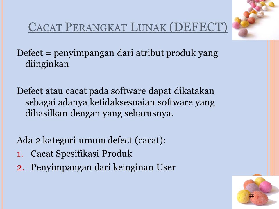 Cacat Perangkat Lunak (DEFECT)