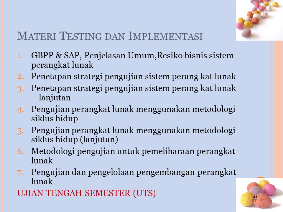 Materi Testing dan Implementasi