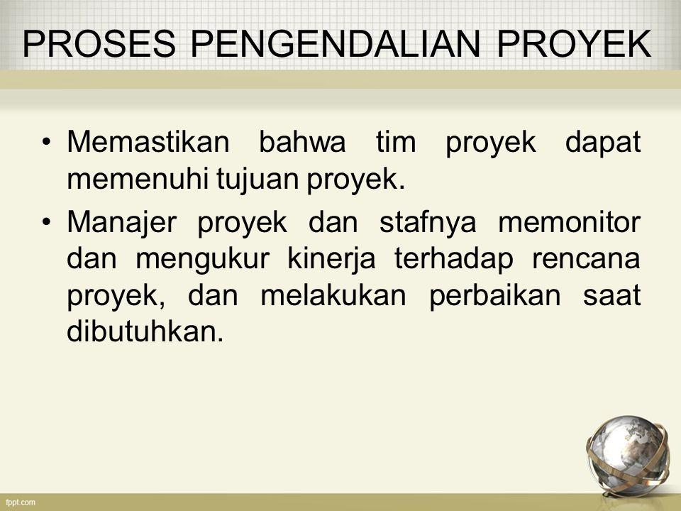 PROSES PENGENDALIAN PROYEK
