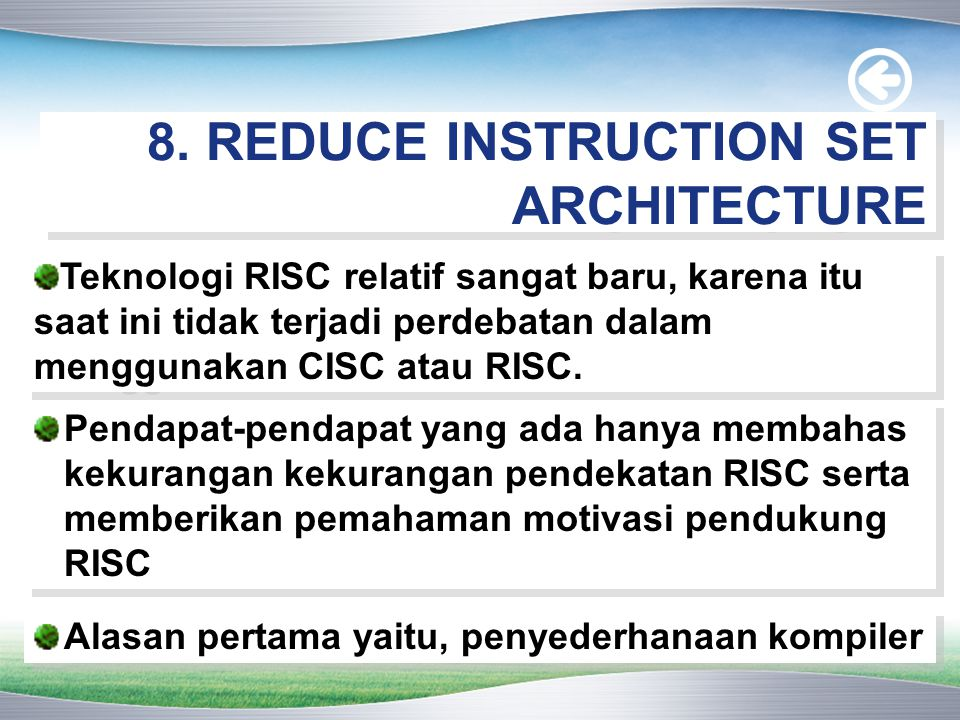 8. REDUCE INSTRUCTION SET ARCHITECTURE