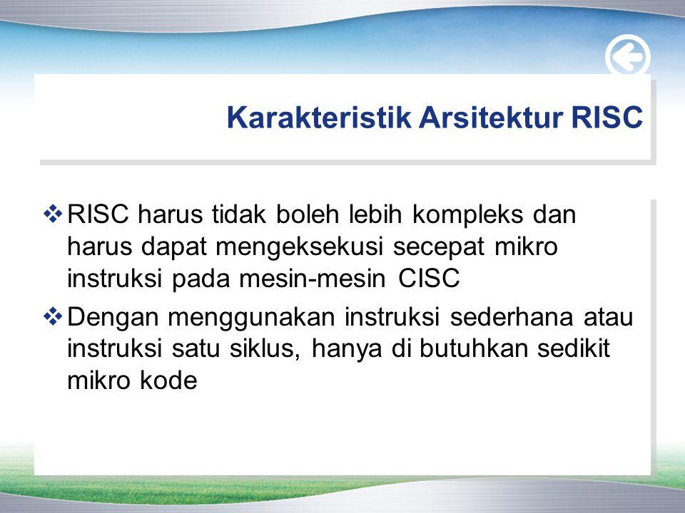Karakteristik Arsitektur RISC