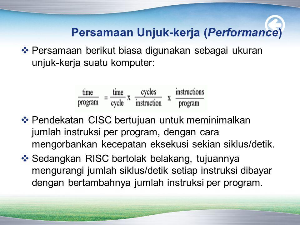 Persamaan Unjuk-kerja (Performance)