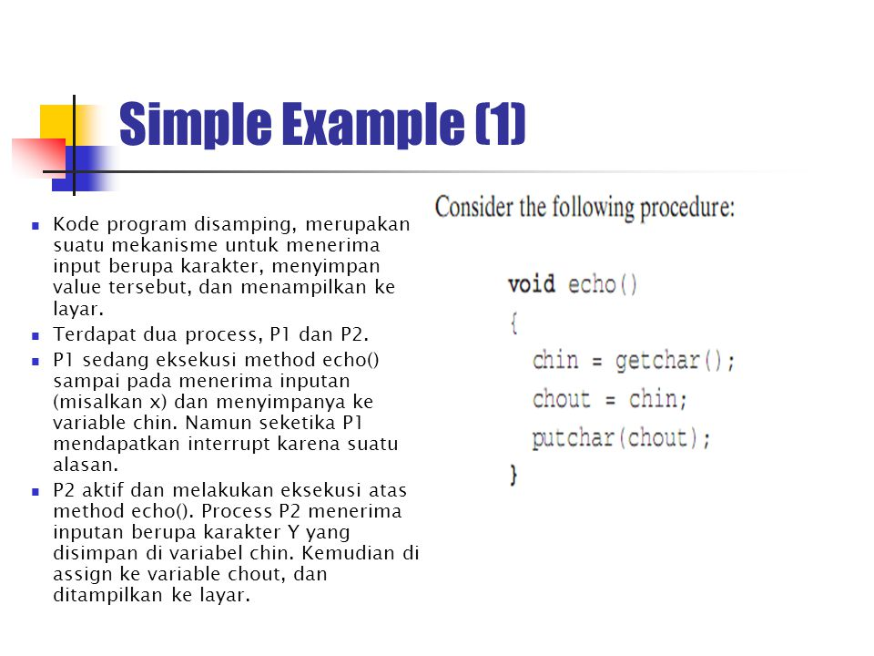 Simple Example (1)