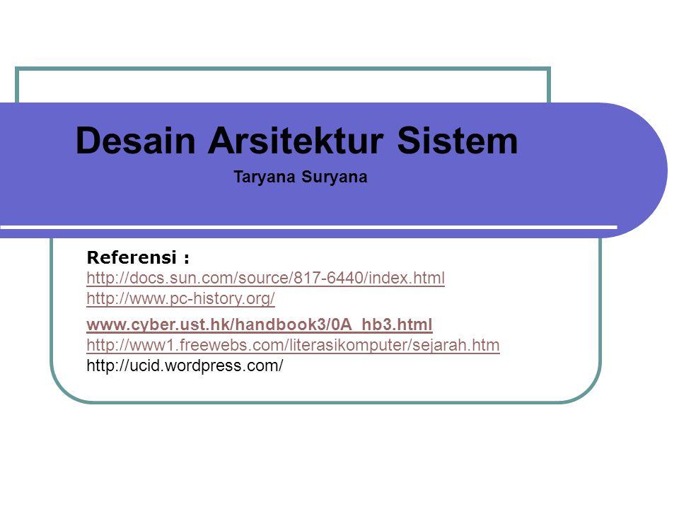Desain Arsitektur Sistem