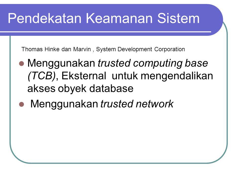 Pendekatan Keamanan Sistem