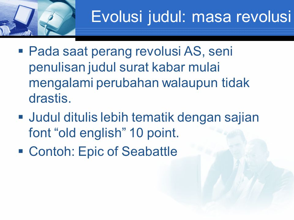Evolusi judul: masa revolusi