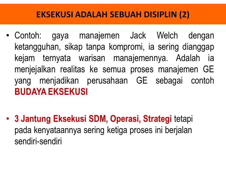 EKSEKUSI ADALAH SEBUAH DISIPLIN (2)