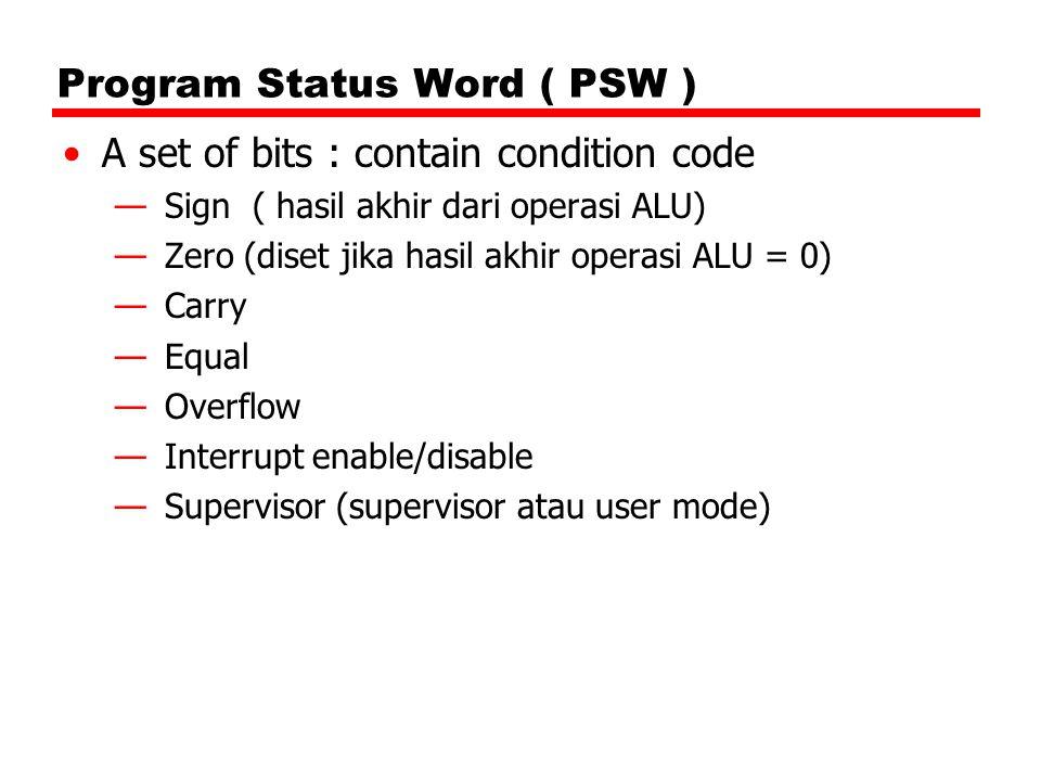 Program Status Word ( PSW )