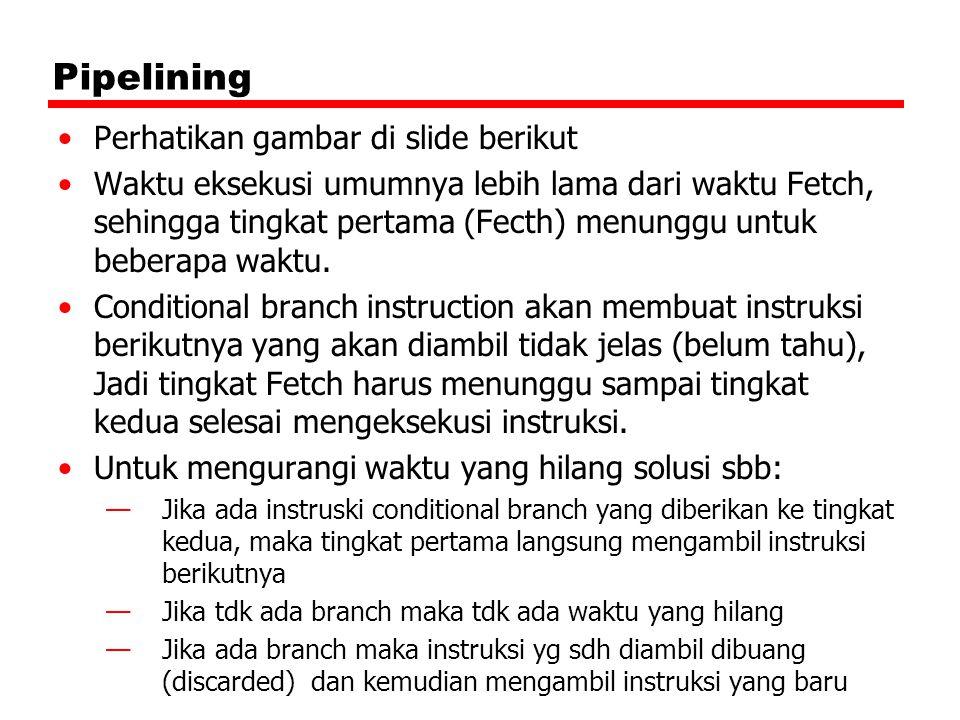 Pipelining Perhatikan gambar di slide berikut