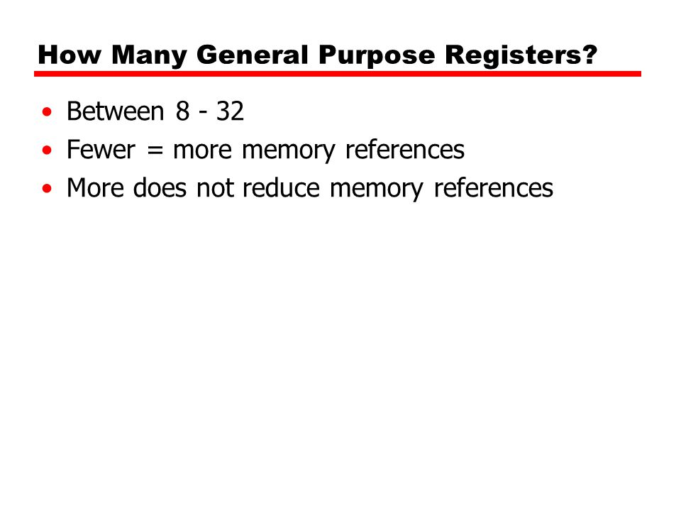 How Many General Purpose Registers