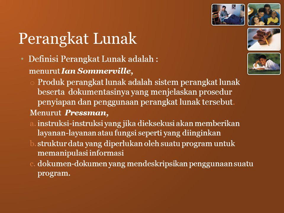 Perangkat Lunak Definisi Perangkat Lunak adalah :