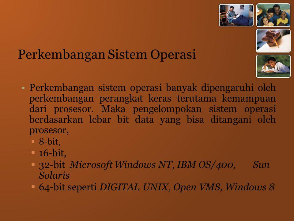 Perkembangan Sistem Operasi