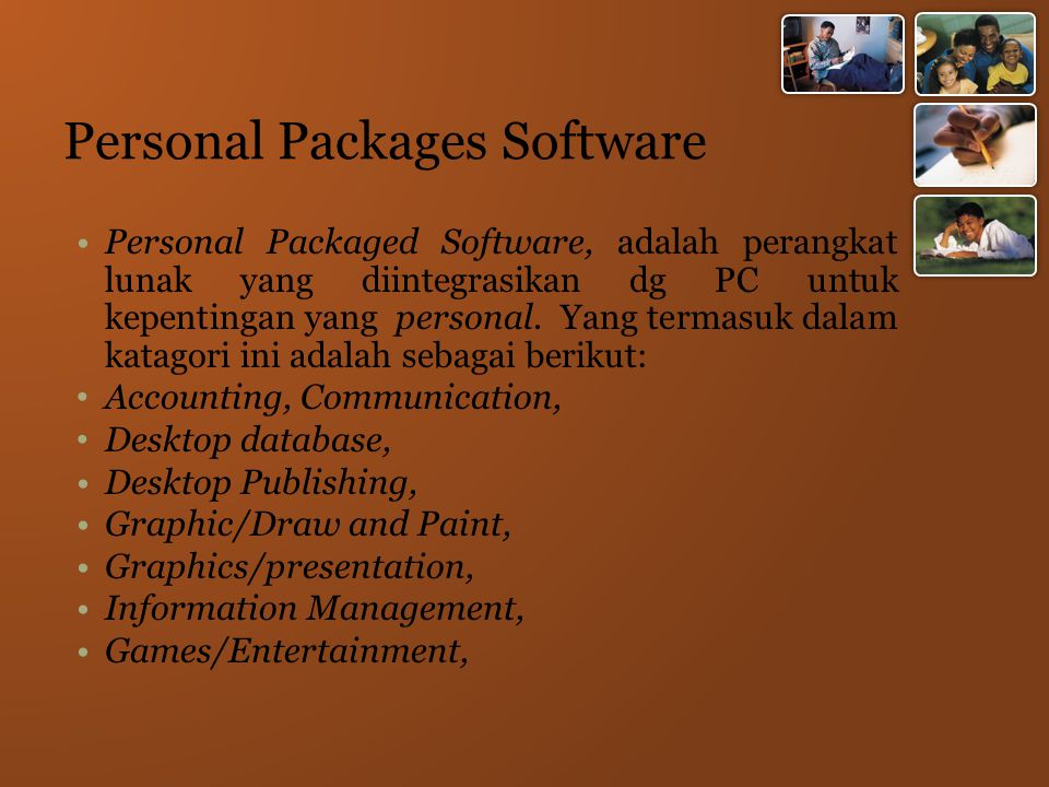 Personal Packages Software