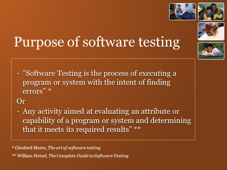 Purpose of software testing