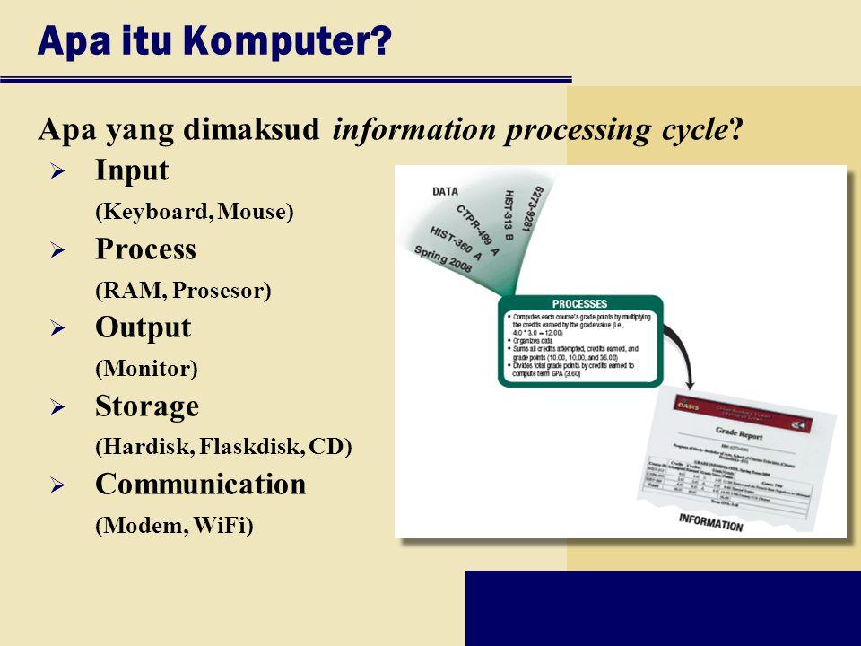 Apa itu Komputer Apa yang dimaksud information processing cycle