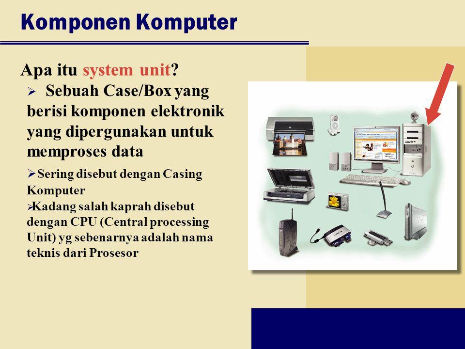 Komponen Komputer Apa itu system unit