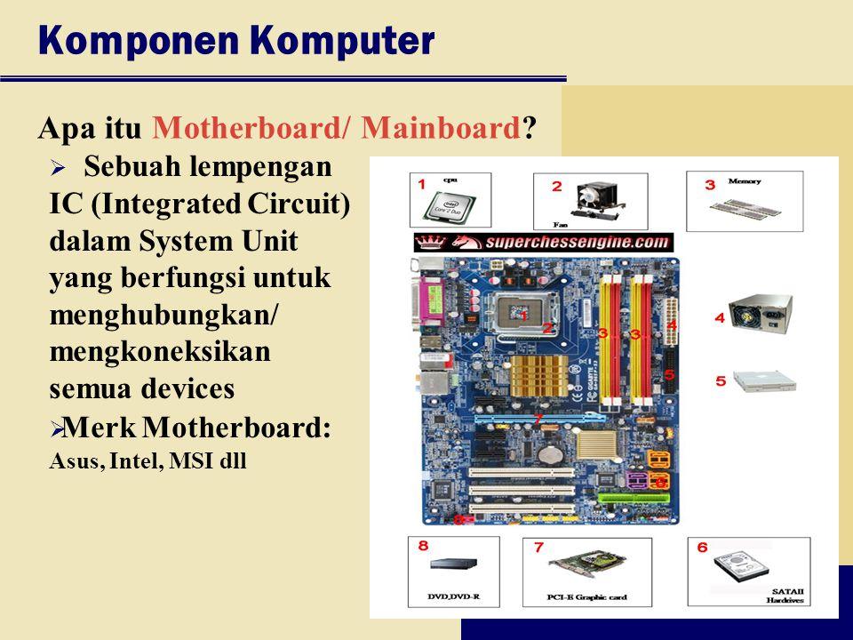 Komponen Komputer Apa itu Motherboard/ Mainboard