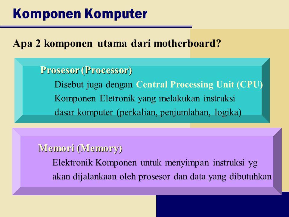 Komponen Komputer Apa 2 komponen utama dari motherboard