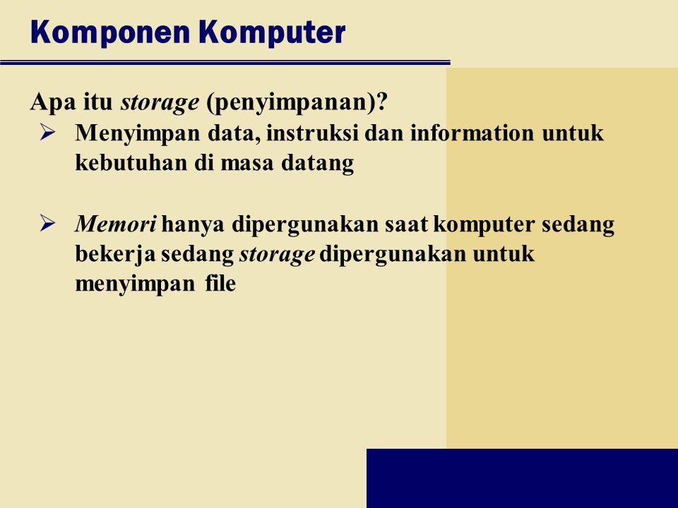 Komponen Komputer Apa itu storage (penyimpanan)
