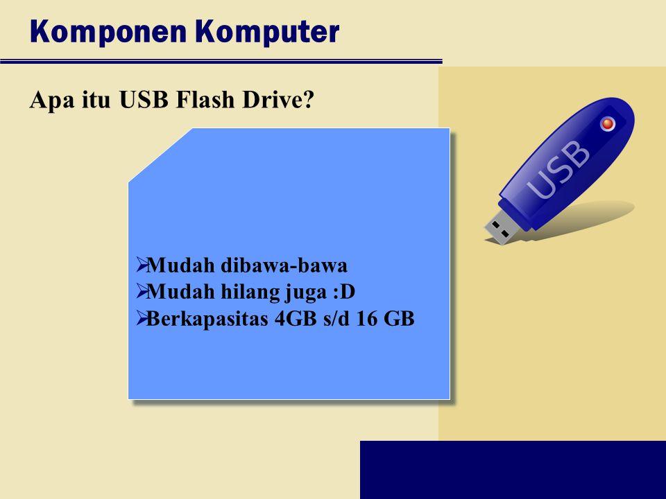 Komponen Komputer Apa itu USB Flash Drive Mudah dibawa-bawa