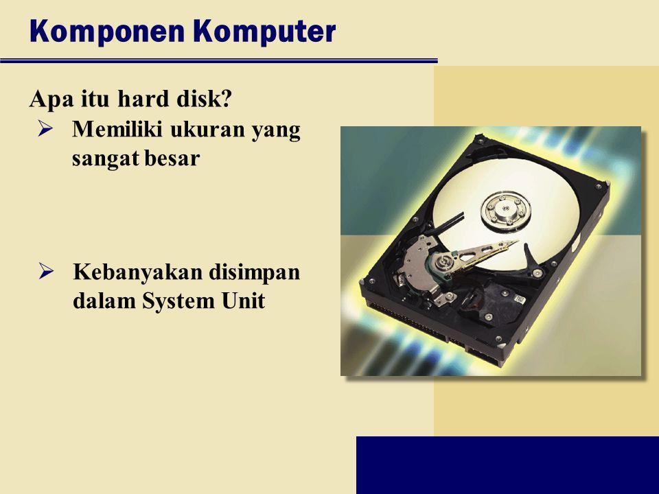 Komponen Komputer Apa itu hard disk Memiliki ukuran yang sangat besar