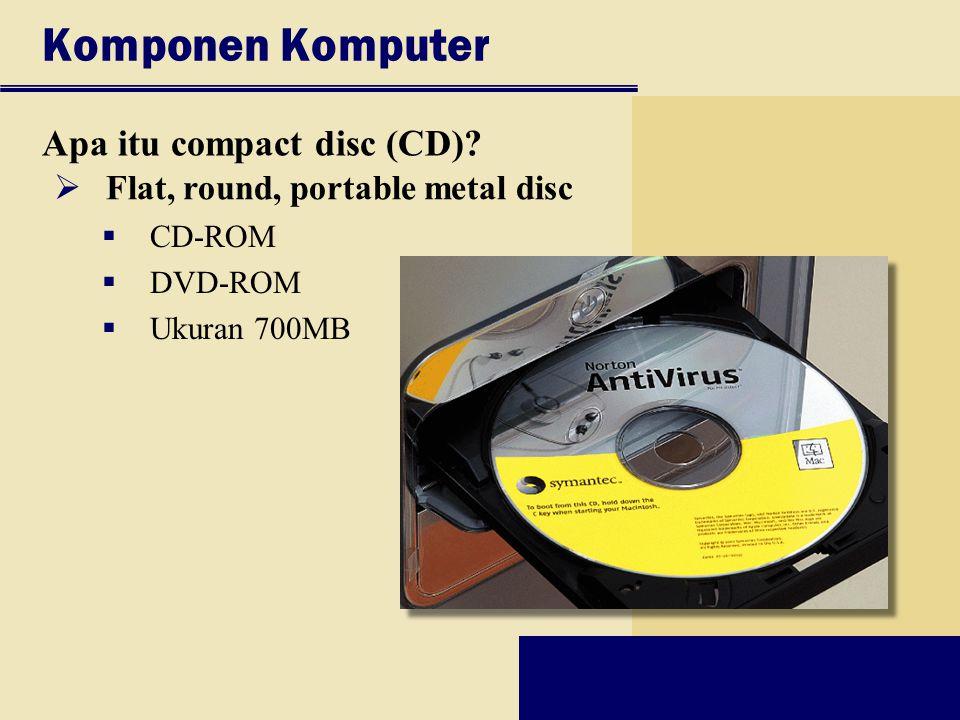 Komponen Komputer Apa itu compact disc (CD)