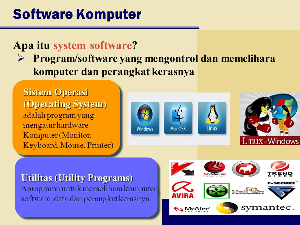 Software Komputer Apa itu system software
