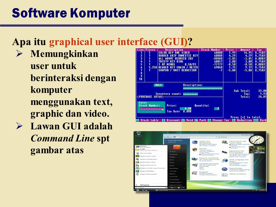 Software Komputer Apa itu graphical user interface (GUI)