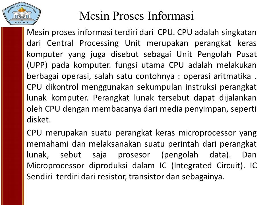 Mesin Proses Informasi