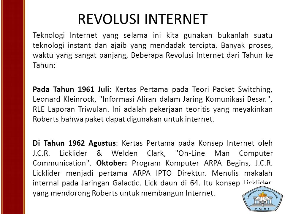 REVOLUSI INTERNET