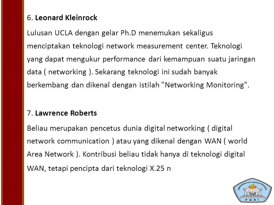 6. Leonard Kleinrock