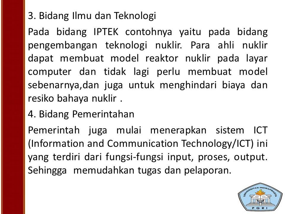 3. Bidang Ilmu dan Teknologi