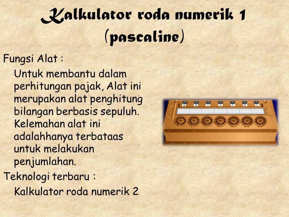 Kalkulator roda numerik 1 (pascaline)