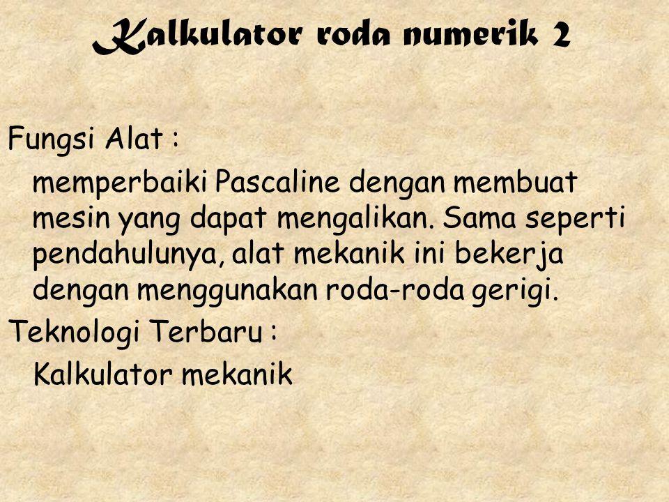 Kalkulator roda numerik 2