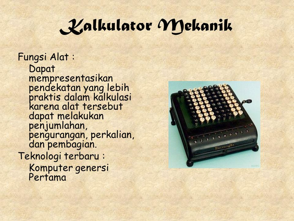 Kalkulator Mekanik