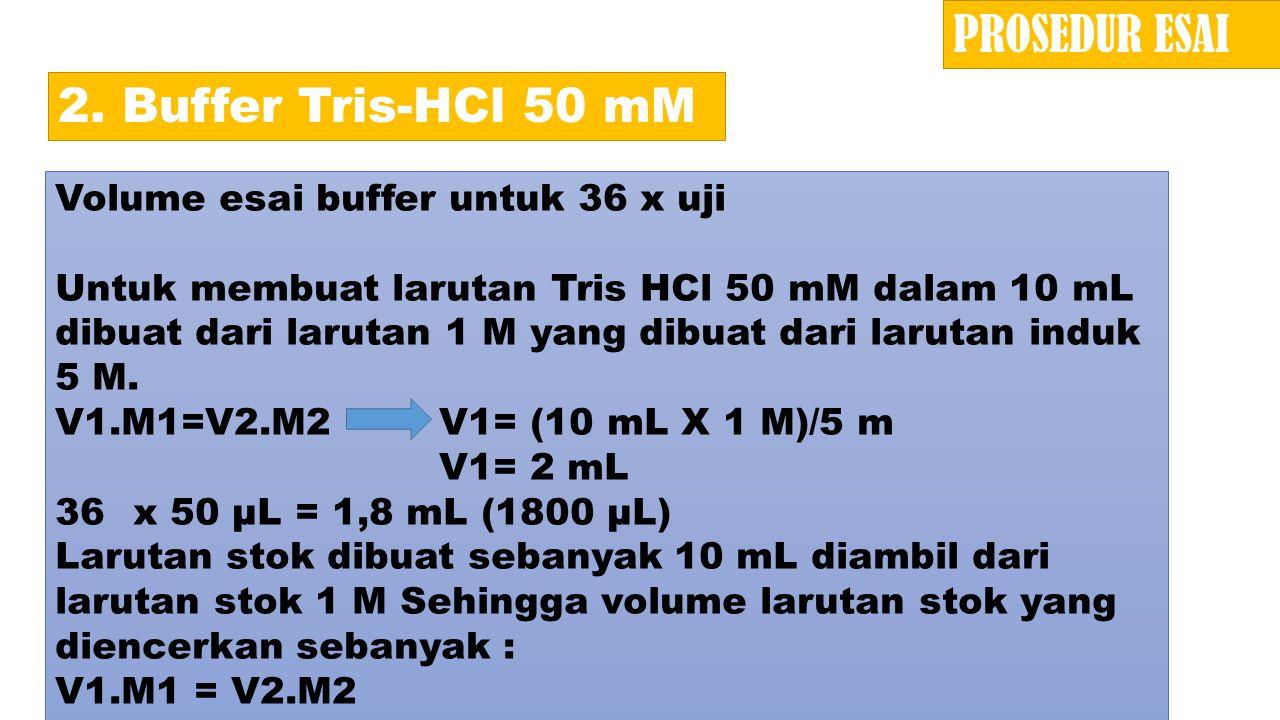 PROSEDUR ESAI 2. Buffer Tris-HCl 50 mM