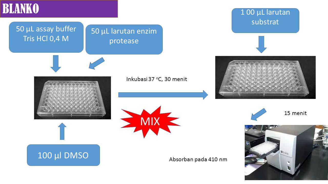 BLANKO MIX 100 µl DMSO 1 00 µL larutan substrat