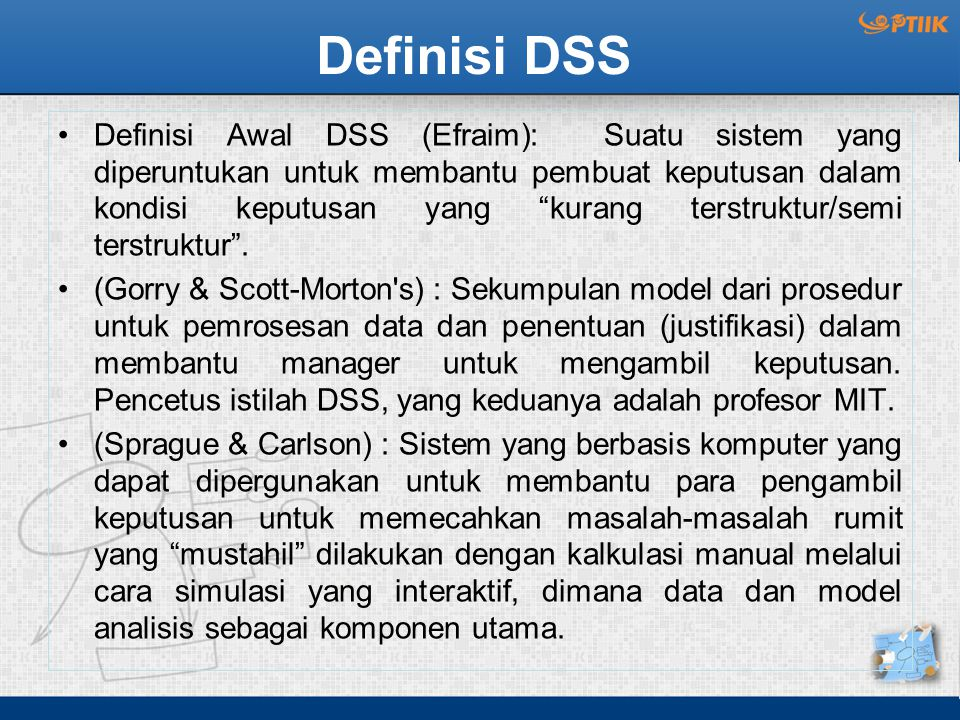 Definisi DSS
