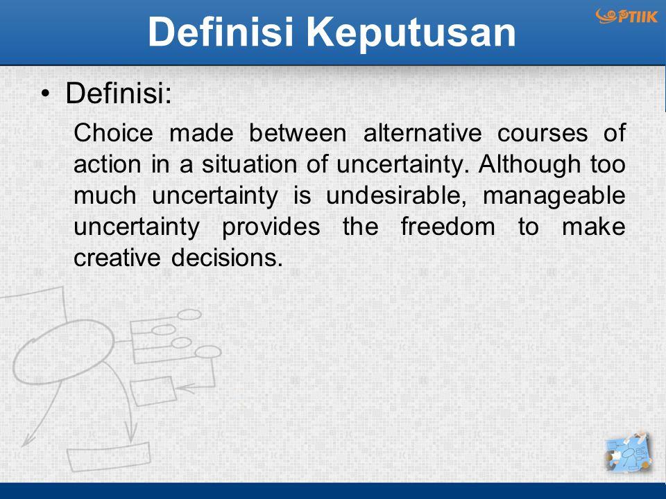 Definisi Keputusan Definisi: