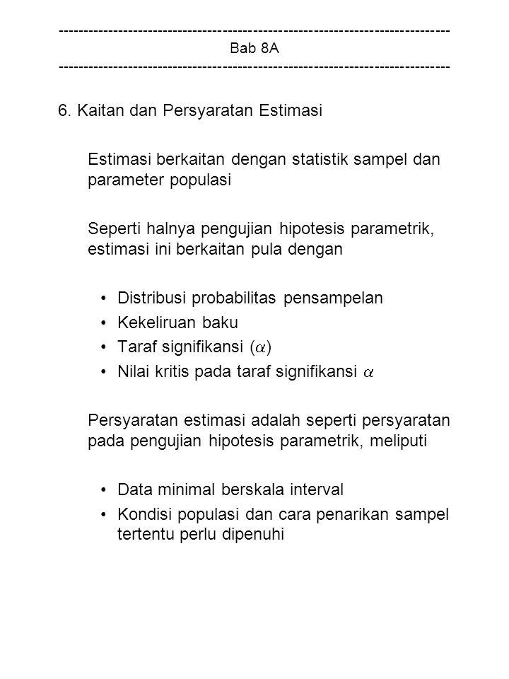 6. Kaitan dan Persyaratan Estimasi