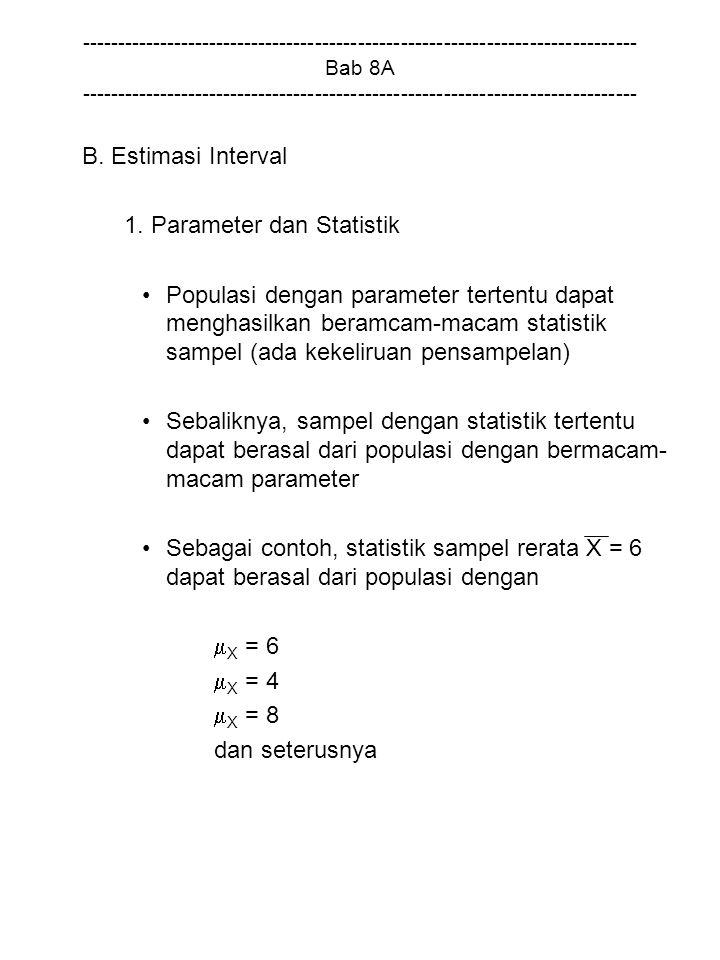1. Parameter dan Statistik