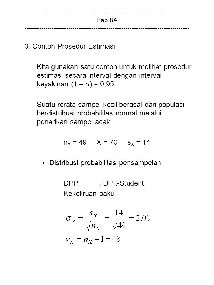 3. Contoh Prosedur Estimasi