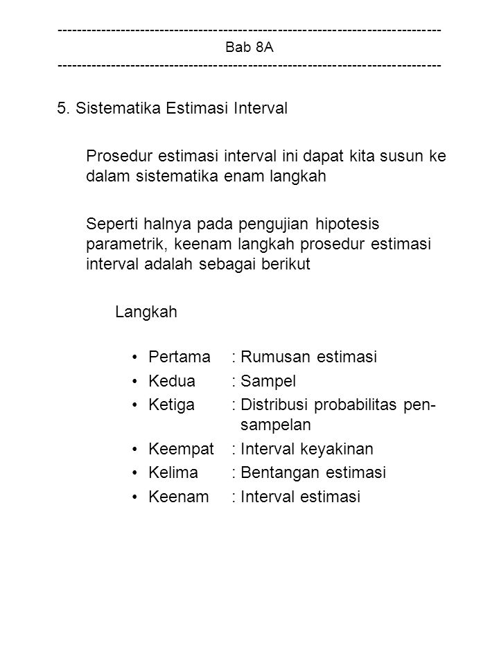 5. Sistematika Estimasi Interval