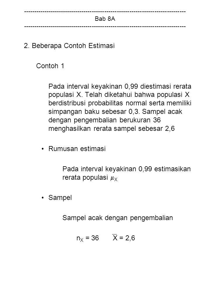 2. Beberapa Contoh Estimasi Contoh 1