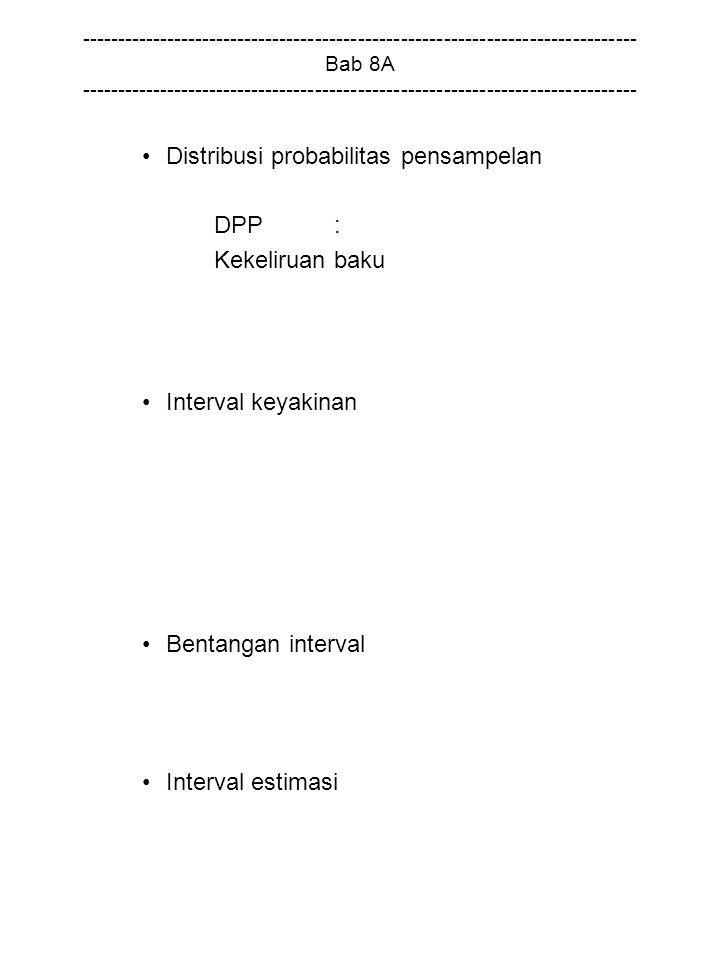 Distribusi probabilitas pensampelan DPP : Kekeliruan baku
