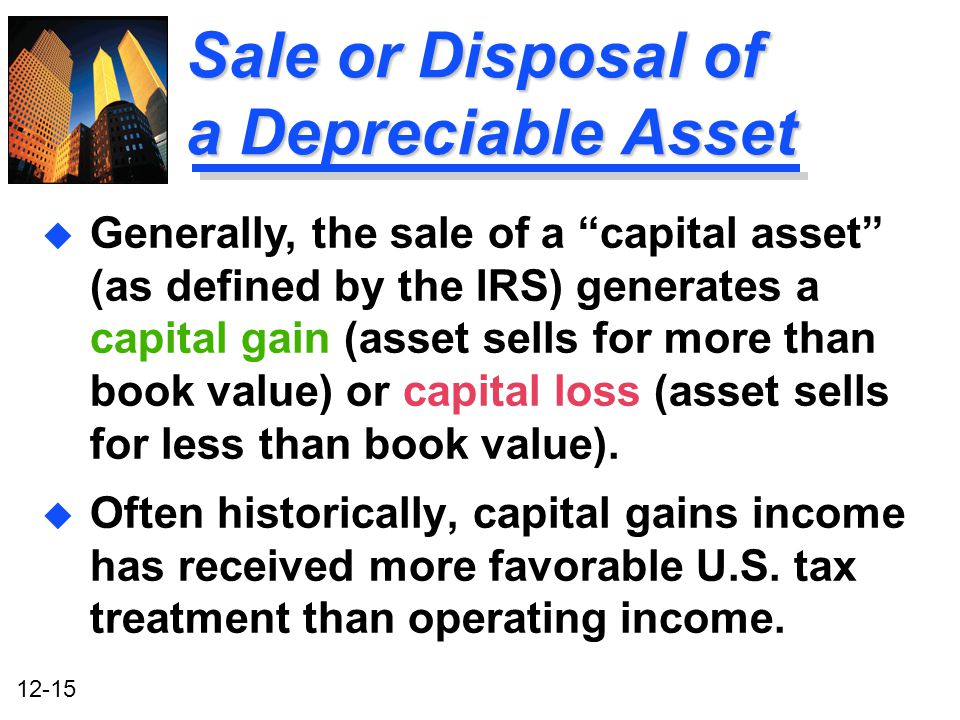 Sale or Disposal of a Depreciable Asset