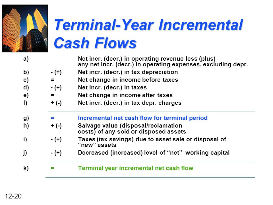 cash flow incremental The difference between the incremental earnings and incremental free cash flows from accounting accfin 502 at university of glasgow.