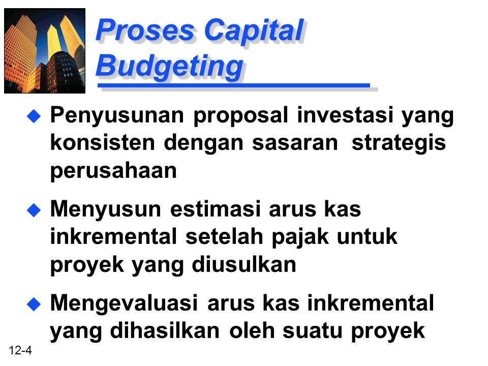 Proses Capital Budgeting
