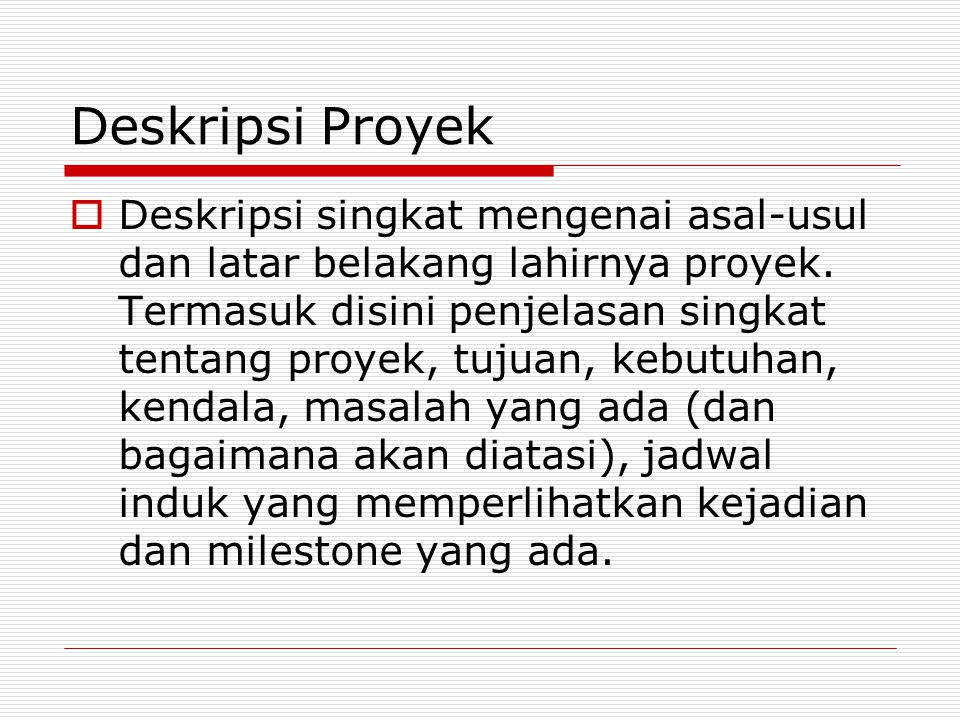 Deskripsi Proyek