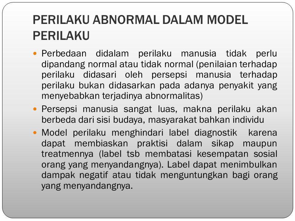 PERILAKU ABNORMAL DALAM MODEL PERILAKU